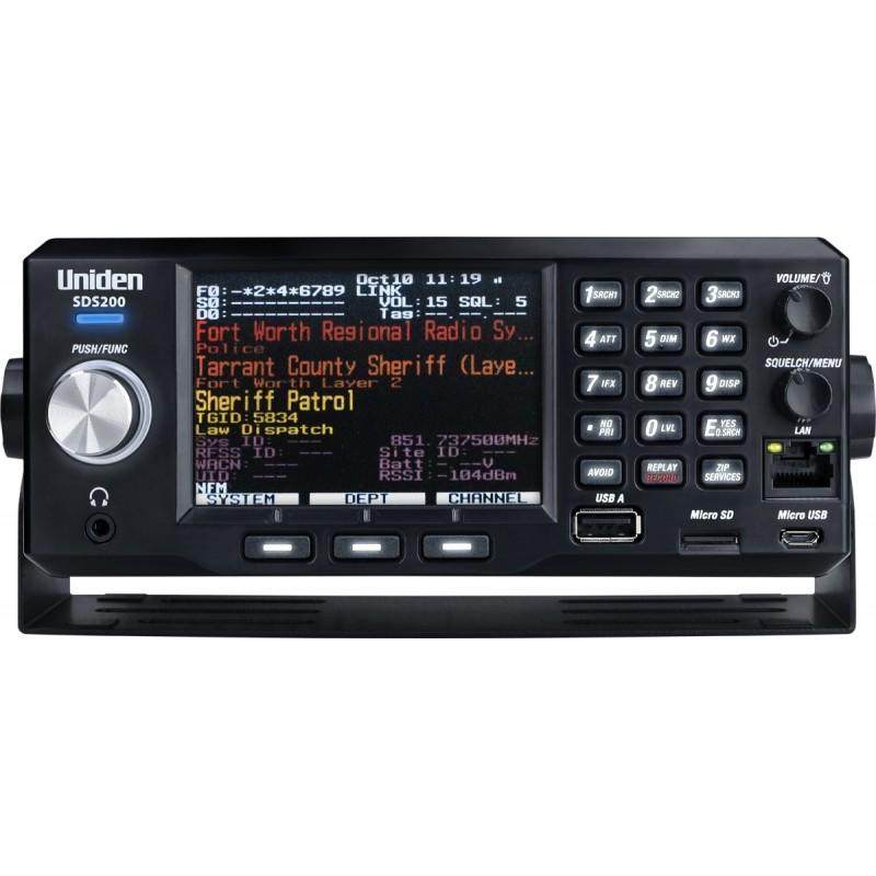 UNIDEN SDS-200ED RICEVITORE PER MODI ANALOGICI DIGITALI 25-1300MHZ BASE