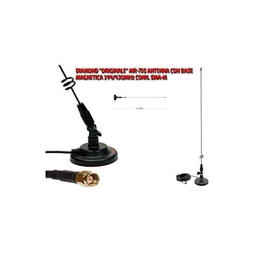 DIAMOND MR-75S ANTENNA VEICOLARE VHF/UHF SMA-M VHF/UHF/SHF VEICOLARI