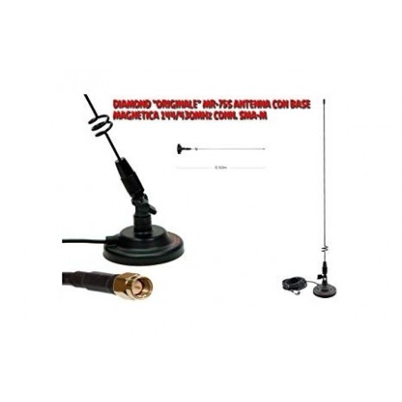 DIAMOND MR-75S ANTENNA VEICOLARE VHF/UHF SMA-M