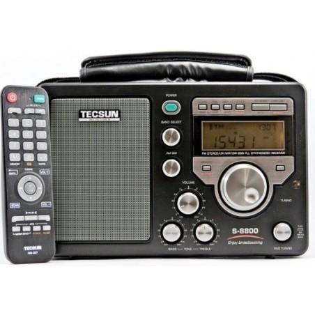 TECSUN S-8800 METAL RICEVITORE HF SSB PORTATILE CON RADIOCOMANDO PORTATILI