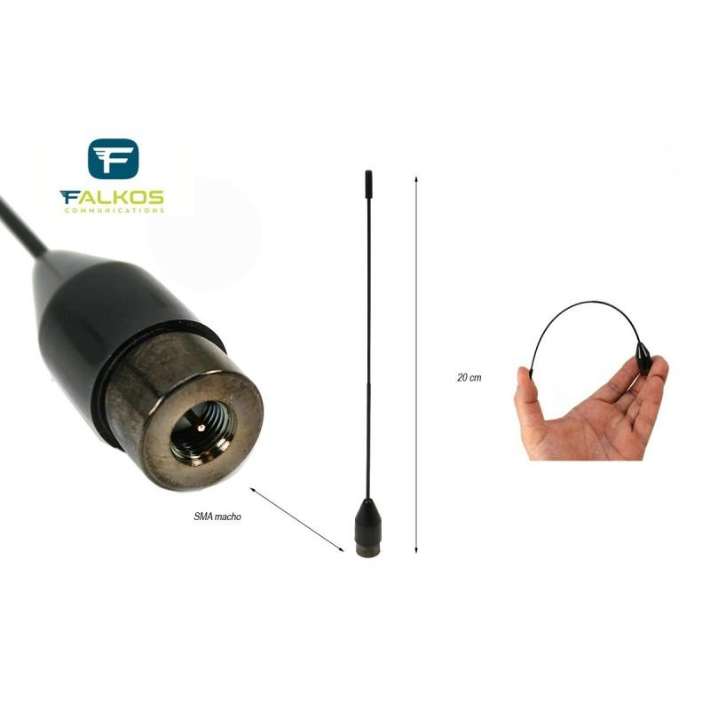FALKOS SRH-519M ANTENNA PER PORTATILI VHF/UHF PER PORTATILI