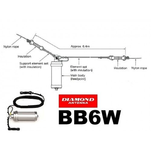 DIAMOND BB-6W ANTENNA DIPOLO LONG WIRE FILARI