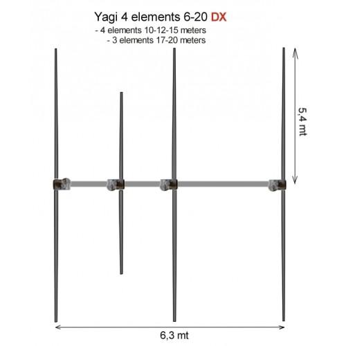 ULTRABEAM ANTENNA 4 EL YAGI 6-20 metri DX HF DIRETTIVE