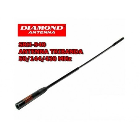 DIAMOND SRH-940 ANTENNA BIBANDA PER PORTATILI 144-430 MHZ/AM/FM/Air band/150/300/450/900 RICEZIONE