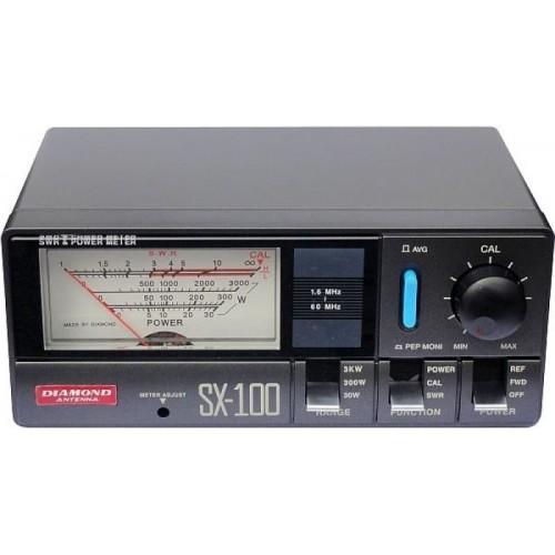 DIAMOND SX-100 ROSMETRO/WATTMETRO 1,6-60 MHz 30/300/3000W