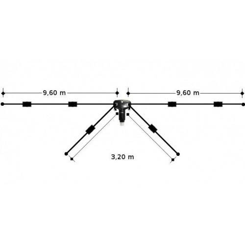 DIAMOND W-8010 DIPOLO FILARE 4 BRACCI 10-15-20-40-80MT FILARI