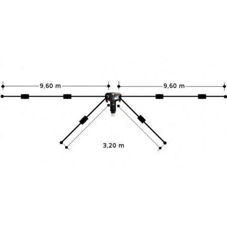 DIAMOND W-8010 DIPOLO FILARE 4 BRACCI 10-15-20-40-80MT