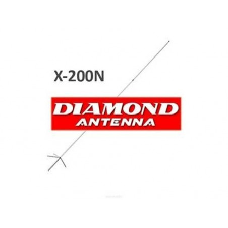 DIAMOND X-200N ANTENNA BIBANDA DA BASE 144-430 MHZ