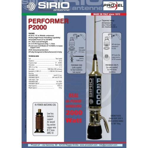 SIRIO P-2000 PERFORMER