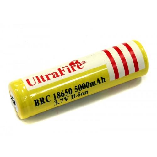 ULTRAFIRE BRC 18650 3.7V 5000MAH LI-ION  BATTERIE COMPATIBILI