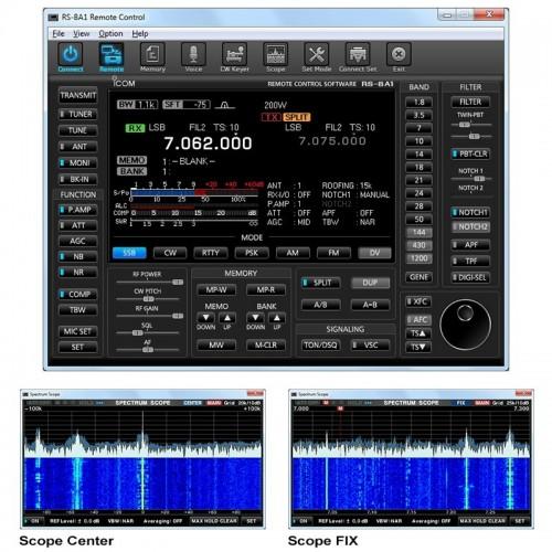 ICOM RS-BA1 SOFTWARE PER CONTROLLO REMOTO VERSIONE 2.0 CAVI PROGRAMMAZIONE