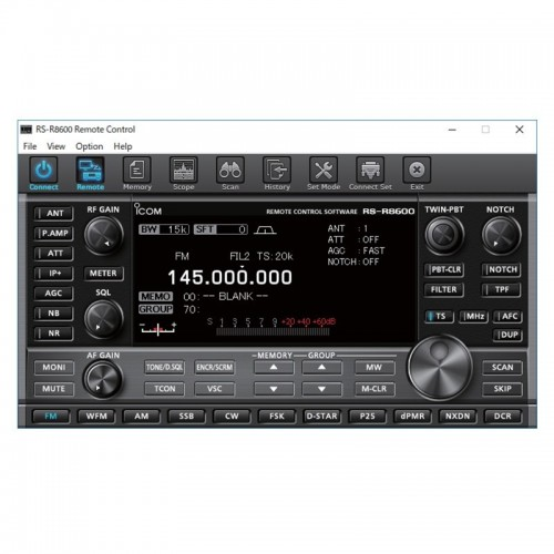 ICOM RS-R8600 IP REMOTE CONTROL SOFTWARE PER ICOM IC-R8600