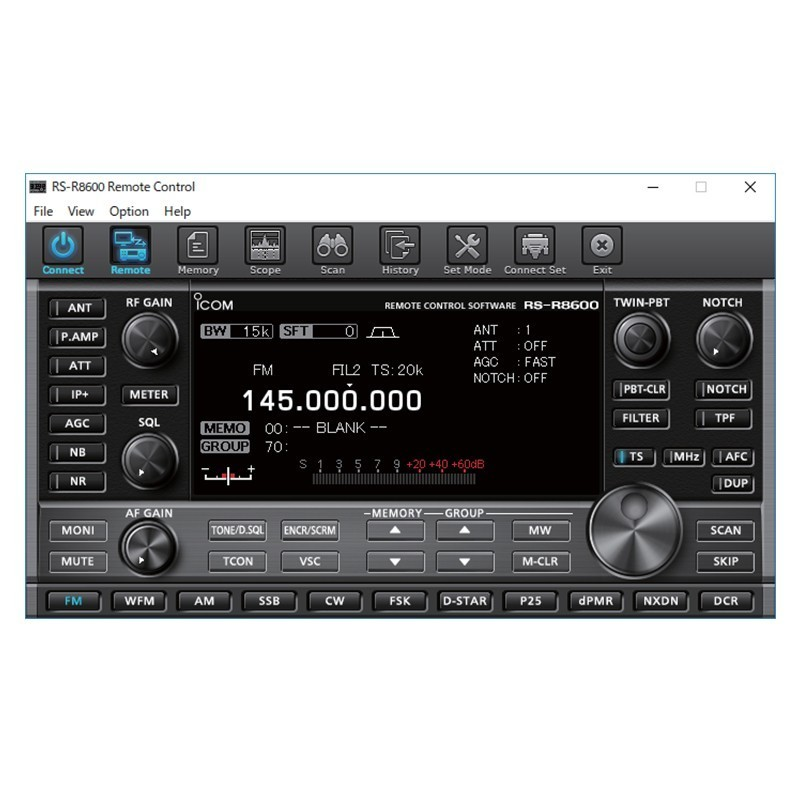 ICOM RS-R8600 IP REMOTE CONTROL SOFTWARE PER ICOM IC-R8600 ACCESSORI VARI